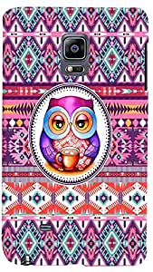 PrintVisa Girly Pattern Owl Case Cover for Samsung Galaxy Note Edge