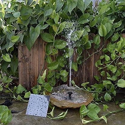 Decdeal Solar Powered Water Pump Solar Pond Pump Upgraded Submersible Fountain Pump for Bird Bath 170L/H 9