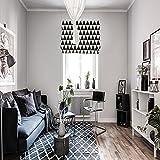 Hebe Tende tono semplice bianco e nero disegno geometrico Tende creativo soggiorno sala da pranzo studio Tende  Single Chip per vendita