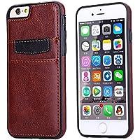Ducomi® Duke of Palma custodia protettiva con tasca porta carte di credito in vera pelle compatibile con iPhone 6 plus 6s plus (Brown)