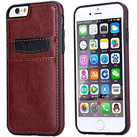Ducomi® Duke of Palma custodia protettiva con tasca porta carte di credito in vera pelle compatibile con iPhone 6 6s (Brown)