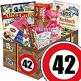 DDR Geschenk | Süßigkeiten Set | Zahl 42 | Geschenke Mutti