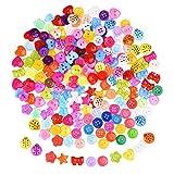 200 Stück Harz Knopf Gemischte Farbe Knopf Kleine Knopf Menge