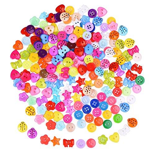 200 Piezas Botones de Resina de Colores Variados Botones Pequeños para Costura Manualidades Scrapbooking y Adornos Hechos a Mano
