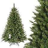 FAIRYTREES künstlicher Weihnachtsbaum FICHTE NATUR, Baumstamm grün, Material PVC, inkl. Metallständer, 180cm