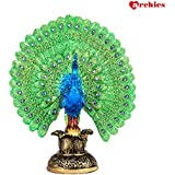 [Sponsored]Archies Multicolor Polyresin Beautiful Handicrafted Dancing Peacock Showpiece For Home Décor And Gift - (H -24 Cm)