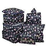 mciskin 7Pcs Flamingo Étanche De Stockage De Voyage Sacs Vêtements Emballage Cube Bagages Organisateur Poche