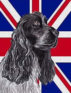 Caroline 's Treasures sc9868chf schwarz Cocker Spaniel mit englischem Union Jack British Leinwand House Flagge