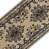casa pura Teppichläufer mit klassischem Design in brillianten Farben | hochwertige Meterware, gekettelt | Kurzflor Teppich Läufer | Küchenläufer, Flurläufer (80x400 cm)