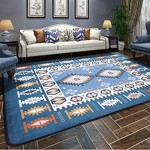 LYDB Rug Mediterrane großen Teppich für Wohnzimmer Schlafzimmer Teppiche Teetisch rechteckige Bodenmatte,#1,190x240cm