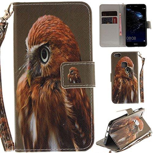 Ooboom® Huawei P10 Lite Hülle Flip PU Leder Handy Tasche Case Cover Schutzhülle Wallet Ständer Karte Halter für Huawei P10 Lite - Falke