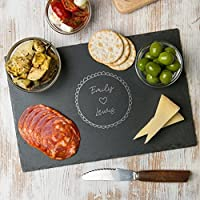 Personalised Slate Cheese Board / Wooden Chopping Board / Engagement Gifts for Women / New Home Gifts / Cute Anniversary Gifts