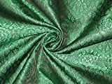 Brokat Stoff schwarz & grün Farbe 111,8cm Hobbys, Home
