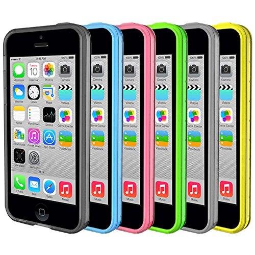 BUMPER CUSTODIA COVER CASE TPU SLIM BIANCO per IPHONE 5 E 5S - Custodia CASE per IPHONE 5 - Cover BUMPER + Pellicola Protettiva Schermo Originale EASYPLACE® Bianco