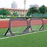 2er Fußballtor Set Pop Up Fußball Mini Tore Garten 120 x 80 x 80cm