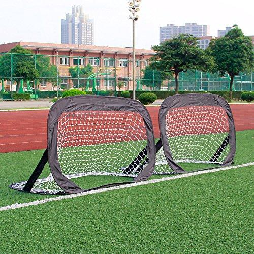 Pop Up Fußball Mini Tore Garten 120 x 80 x 80cm (Fußball Spielzeug)