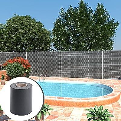 SONGMICS PVC Sichtschutzstreifen Zaunfolie anthrazit von SONGMICS - Gartenmöbel von Du und Dein Garten