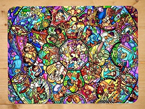 Disney gebeizt Glas inspiriert PU Faux Leder Mauspad, PC Maus Pad (Leder Faux Inspiriert)