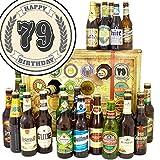 Geschenk zum 79. | Bier Adventskalender mit Bieren der Welt und Deutschland | Geschenke 79er Geburtstag | GRATIS 6x Geschenk Karten, 3 Urkunden, Bierbewertungsbogen