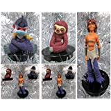 "The Croods 3 Piece Holiday Christmas Ornament Set Featuring Belt, Punching Monkey, And Guy The Wandering Nomad - Shatterproof Plastic Ornaments Range From 2"" To 4"" Tall"