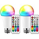 Bombilla de luz LED que cambia de color, 120 colores, equivalente a 70 vatios, luz estroboscópica de bricolaje, blanco cálido