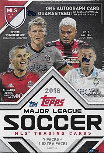 2018 Topps MLS Fußball Ungeöffnete Blaster Box von Pack mit Einer Garantiert Autographed Karte Pro Karton -