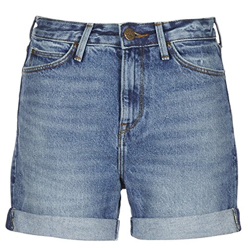 Lee Damen Shorts Mom Short Relaxed Fit Blue (82) 26 -