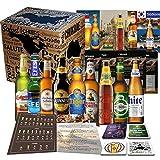 Biere der Welt 9 Flaschen Geschenk für Mann, Geburtstag +Bier Geschenk + Geschenkidee für Männer Geburtstag + Tasting Anleitung + 4x Bierdeckel + 9 x Hochwertige Produktbeschreibung