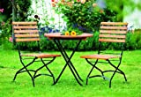 Klapp - Bistroset Schlossgarten 3-teilig, Stahl schwarz + Eukalyptus, FSC®-zertifiziert