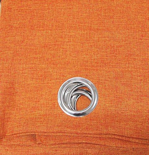 Russo Tessuti Telo Tenda MASTRO Pannello Singolo TENDONE CANAPONE Leo Juta Coprente 130x270 cm-Arancione