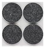 peha® Tacos de fieltro / patin para silla, autoadhesivo, PREMIUM - 5,0 mm altura, gris | Ø 38 mm (4 piezas)