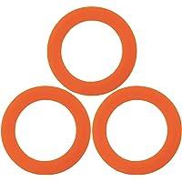 Vaisselle Argon Joints Silicone Anneaux pour Le Verre Jars de Stockage - 42mm - pour Jar Spice 70ml - Orange - Lot de 6