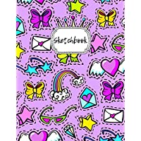 """Sketchbook: Blank Drawing Book For Girls & Boys 