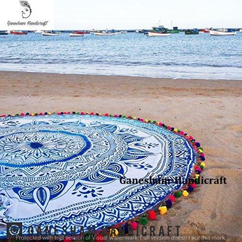 indischen Mandala Hippie Boho Bohemian Gypsy Wohnheim Decor Baumwolle Wandbehang Tapisserie Home Decor Yogamatte rund, Beach Roundie Beach Tabelle Baumwolle Strand Decke rund Sexy Strand Handtuch