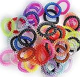 50 STÜCK Telefonkabel Zopfgummis Haarband Haargummi Kabel Style 10 Farben