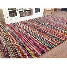 Commerce équitable Multicolore Chindi Rag Tapis 100cm x 165cm