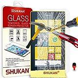 Nokia Lumia 520 Tempéré Verre Cristal Clair LCD Écran Protecteur Gardien & Polissage Tissu + ROUGE 2 DANS 1 Poussière Bouchon SVL1 PAR SHUKAN®, (TEMPÉRÉ VERRE)