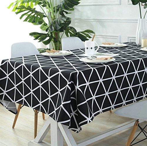 SADWF Tischdecke Schwarz-Weiß-Linie Tischdecken Tischdecke Restaurant Home Hotel Konferenz Tischdecken Einfache Couchtisch Tischdecke, Black - Konferenz Linie