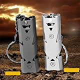 #7: Ocamo 150DB Stainless Steel Whistle with Key Chain Lifesaving Emergency SOS Encourage Outdoor Survival Tool