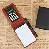 Seasiant India RuiZe Creative Pu Leather Diary A7 Planner Multifunction Pocket Mini Notebook with Calculator Single Item