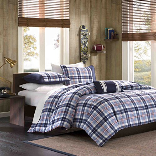 mi-zone Bettbezug-Set, Polyester, Elfenbeinfarben, Twin/Twin - Männer Twin Bettbezug