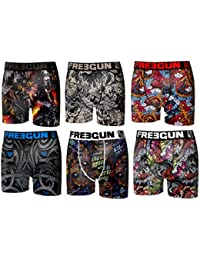 Freegun - Lot de 6 boxers - homme