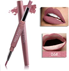 MISS ROSE 2 IN 1 LONG LASTING CREME MATTE WATER PROOF LIPSTICK WITH LIP LINER