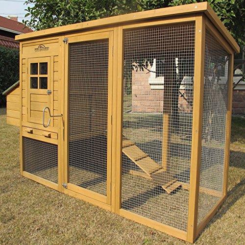 Pets imperial® - monmouth pollaio gabbia per pollo grande conigliere - può contenere fino a 4 uccelli a seconda dei suoi dimensioni – con recinto, vassoio e una sistema innovativa di bloccaggio