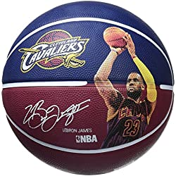 Spalding Nba Player Lebron James Sz.7 83-349Z - Balón de baloncesto, color azul marino, talla 7