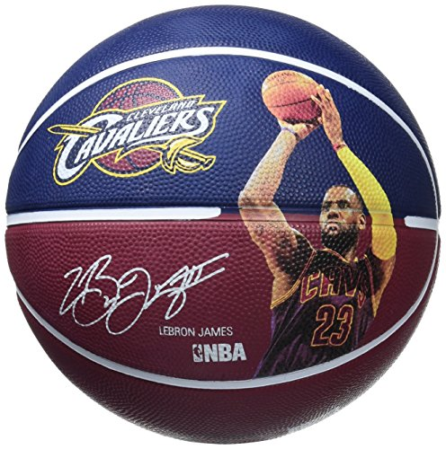 Spalding Nba Player Lebron James Sz.7 (83-349Z) Balón de Baloncesto, Azul (Marino / Burdeos), 7