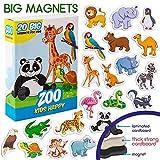 MAGDUM Zoo Tiermagnete für Kinder Happy- echte GROßE Kühlschrank Magnete für Kleinkinder- magnetisches Theater Lernspielzeug - Spiele für 3 Jährige - Magnet Spiele für Kinder - Dschungeltier-Magnete