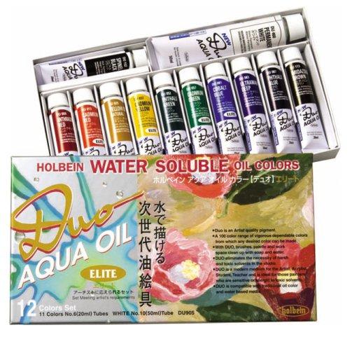 Duo Aqua Oil Color (Holbein Aqua Oil Color DUO 12 color set elite set (japan import))