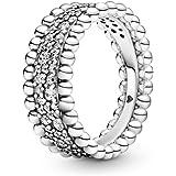 PANDORA خاتم من الفضة الاسترلينية 925 شفاف من الفضة الاسترلينية - 198676C01