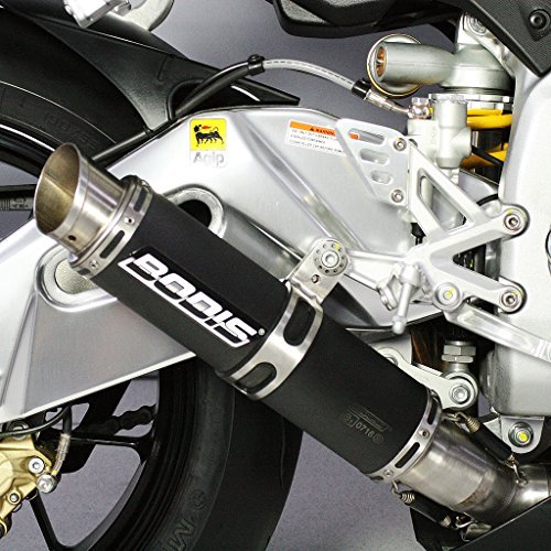 Auspuff Bodis GP1 Slip-On Edelstahl schwarz Aprilia RSV4 Factory aPRC ABS R RK Tuono V4 TY